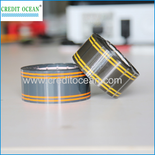 Printed logo tipping tape