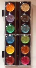 Set di vernice dell'acquerello della perla di 12 colori