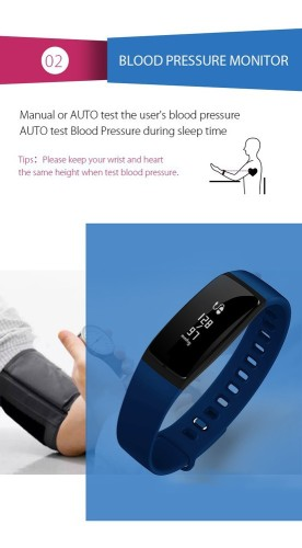 Bluetooth Wristband Fitness Tracker Wrist Band Watch With Heart Rate Monitor and blood pressure monitor +Spo2