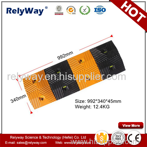 Roadway Safety Rubber Speed Bump