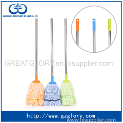 Microfiber loop end mop with stainless still handle