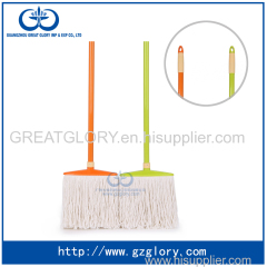 Wide body white cotton mop with paint handle