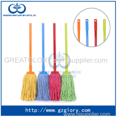 Colorful cotton mop with paint iron handle made from China for wholesale