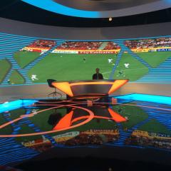 Écran d'affichage de la location d'installation fixe p4 à l'intérieur de l'installation