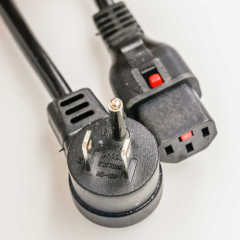 American Standard 3-Pin Male Plug to C13 NEMA 5-15 Power Cord