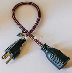 UL nema 5-15p plug ac power extension cord for electric grill