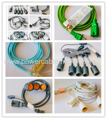 ul listed vintage pendant light cord kit with dimming switch and triple e26/e27 industrial light socket lamp