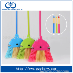 Anti-collision plastic broom double colors with paint iron handle