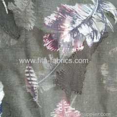 100% polyester burnout chiffon printing fabric