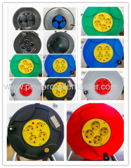 16A/250V VDE plug German sockets Industrial French Cable Reel france cable wheel Schuko Plug with 4 Schuko Outlet