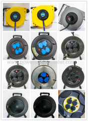Automatic retractable extension power plastic cable reel