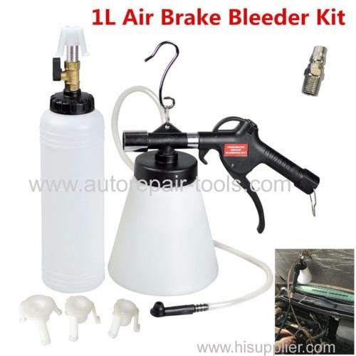 1L Air Brake Oil Bleeder Kit Pneumatic Clutch Vacuum Hydraulic Fluid Fill Bottle