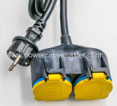 2P+E IP44 200-250VAC 16A heavy duty extension cord