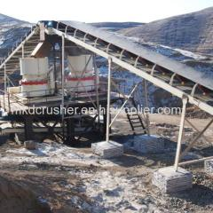 Stationary Canvas Belt Conveyor for Rock Crushing Plant