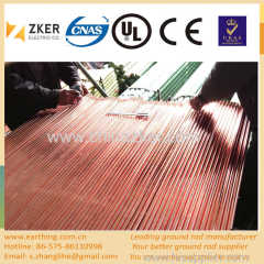 pure copper layer ground rod price