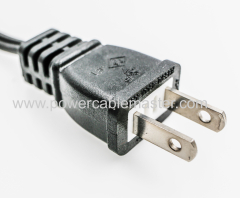 PSE/JET approved 110v ac power cable japan 2-pin plug