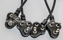 SABS power cord/South Africa power cord/South Africa power plu South Africa BASA power cable