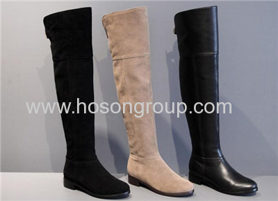 PU suede or leather knee high boots