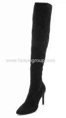 Mulheres pointy toe thigh high women boots