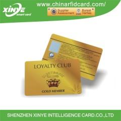 Scheda personalizzata di stampa PVC RFID VIP con rivestimento UV