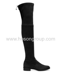Over knee suede mulheres boots