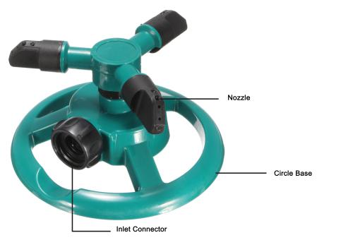 3-arm garden water  rotary sprinkler