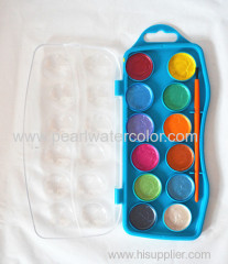 12 color pearl watercolor paint pan box