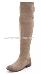 Thigh high lady round toe boots