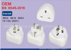 Universal Power Plug Converter White