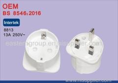 BS8546 Universal EU to UK Travel Power Plug Adapter Converter with USB