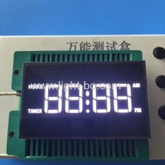white oven timer; white clock;white 7 segment ;white led display;timer display;custom display