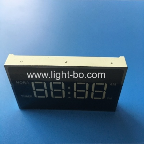 Ultra white 4 digit 7 segment led clock display for microwave oven timer