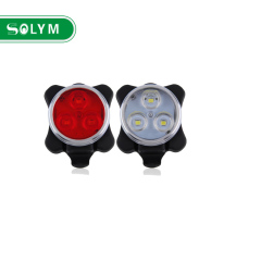 USB Rechargeable 3 LED Bike Front Rear Tail light