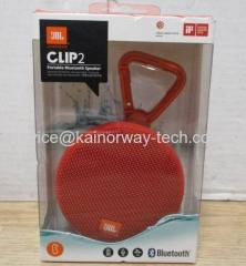 New JBL Clip2 IPX7 Waterproof Rechargeable Ultra-Light Portable Bluetooth Red Wireless Speakers By Harman Kardon