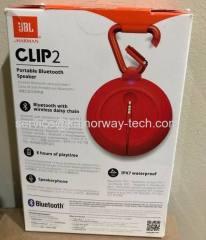 New JBL Clip2 IPX7 Waterproof Rechargeable Ultra-Light Portable Bluetooth Red Wireless Speakers By Harman Kardon