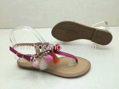 Clip toe bohemian style lady sandals