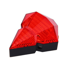 Rechargeable Diamond 8 LED bike Laser Taillight