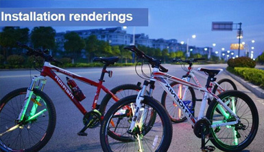 For the stunning LED night riding bicycle wheel lamp