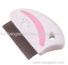 2017 Yangzhou White Pink Pet Flea Comb Wholesale