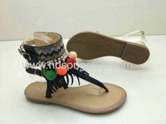 Bohemian style buckle beading lady sandals