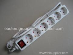 Power Strip Surge Protector 6 Feet Extension Socket Euro Power Plug