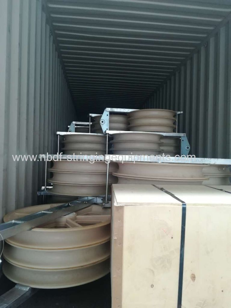 822MM CONDUCTOR PULLEYS EXPORTED FOR TRANSMISSION LINE STRINGING