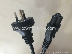 ROUND EARTH PIN PLUG WITH CABLE FOR SAA