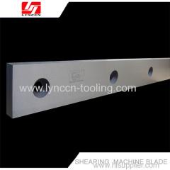 Long shearing machine blade