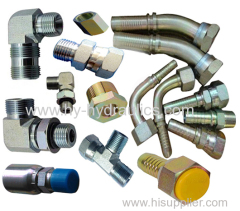 Hydraulic fittings adapters assemblies