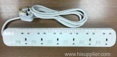 SASO certificate 6 ways extension socket UK socket USB socket