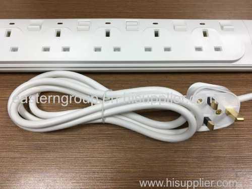 SASO approved UK Plug extension socket