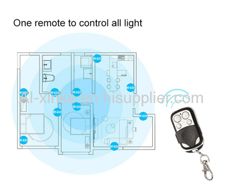 Smart Home Automation RF Remote Two way US Touch Wall Switch AC110-240V