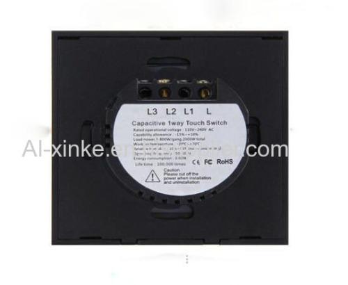 EU Standard RF433 Wireless Remote Control Touch Lighting Lamp Wall Switch