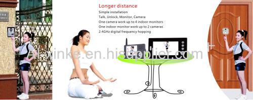 7 Inch Wireless Colour Video Door Phone Intercom System